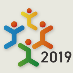 The International Association for Universal Design logo with year 2019 for the conference