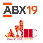 ABX 2019 and Women in Design Boston logos