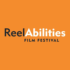 ReelAbilities Film Festival - text on orange background