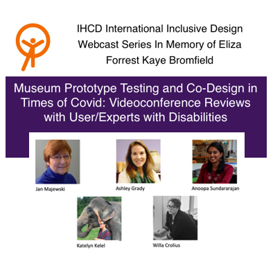 Poster with title, IHCD logo and images of all panelists