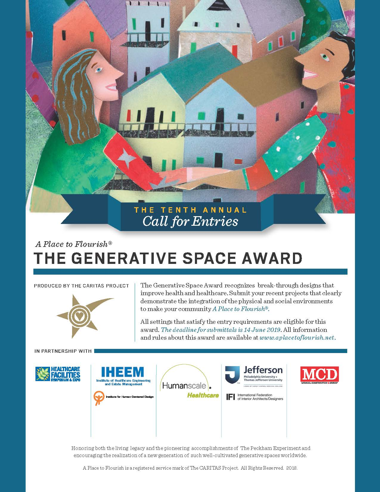 The Tenth Annual Generative Space Awards Call for Proposals flyer with deadline June 14, 2019