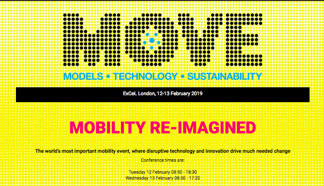 MOVE Conference: Mobility Reimagined Website Homepage with conference logo and dates February 12 and February 13