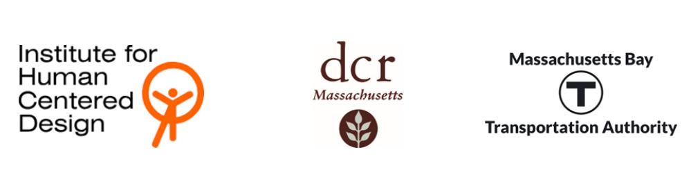 IHCD, DCR, and MBTA logos