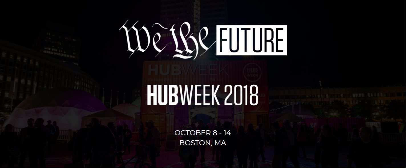 "HUBweek.org landing page - ""We The Future"" October 8-14, Boston MA"