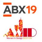 ABX 2019 and Women in Design Boston logos