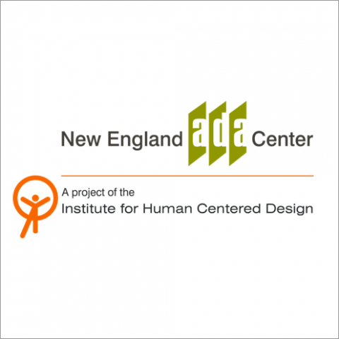 IHCD and the New England ADA Center combined logo