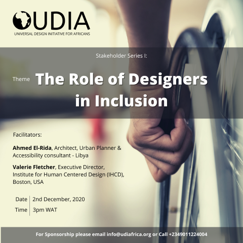 The Role of Designers in Inclusion Event Poster